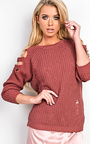 Allysia Cold Shoulder Knitted Jumper Thumbnail