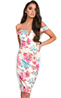 Jelena Bardot Floral Midi Dress Thumbnail