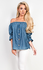 Denna Denim Shift Top Thumbnail