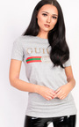 Amena Striped Logo Top Thumbnail