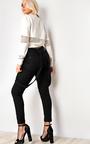 Klara Slogan Mesh Crop Sweater Thumbnail