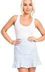 Perla Gingham Frill Trim Mini Skirt Thumbnail