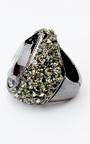 Black Stone Diamonte Ring Thumbnail