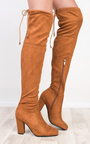 Avril Faux Suede Knee High Boots Thumbnail