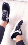 Kristen Velvet Lace Up Ribbon Trainers Thumbnail