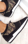 Bali Mesh Camo Two Toned Panel Trainers Thumbnail