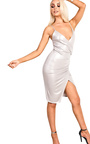 Luciana Gathered Bodycon Dress  Thumbnail