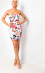 Cecilia Floral Bandeau Bodycon Dress Thumbnail