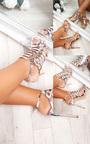 Terri Cut Out Chrome High Heels  Thumbnail