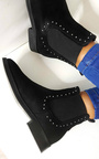 Tessi Studded Chelsea Faux Suede Ankle Boots Thumbnail
