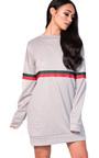 Meghan Striped Sleeve Oversized Jumper Dress Thumbnail