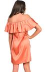 Rhodes Satin Bardot Dress Thumbnail