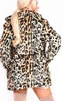 Ula Faux Fur Leopard Coat Thumbnail