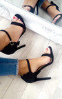 Nazzi Faux Suede Frill Barely There Heels Thumbnail