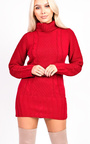 Ava Knitted Polo Neck Dress Thumbnail