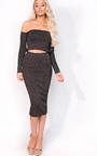 Stella Luxe Sparkle Bandage Bardot Top Thumbnail