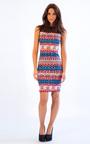 Clemence Bodycon Midi Colourful Sleeveless Print Dress Thumbnail