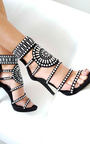 Kimberly Diamante Studded Heels Thumbnail