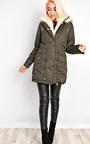 Masie Faux Fur Parka Jacket Thumbnail