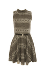 Maryana High Neck Aztec Skater Dress Thumbnail