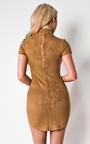 Martha Suede Bodycon Dress  Thumbnail
