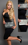 Maja Sparkle Stripe Clutch Bag  Thumbnail