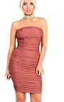 Calia Slinky Ruched Strapless Bodycon Dress Thumbnail