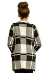 Erica Knitted Check Coat Thumbnail