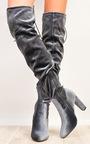 Fawn Velour Knee High Boots  Thumbnail
