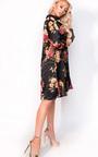 Melody Oversize Satin Floral Shirt Dress Thumbnail
