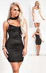 Tara Satin Choker Neck Dress Thumbnail