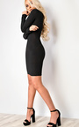 Cici Long Sleeve Cut Out Bodycon Dress Thumbnail