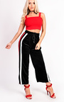 Serena Striped Velour Stretch Joggers Thumbnail