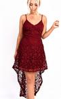 Katy Dipped Hem Crochet Dress  Thumbnail