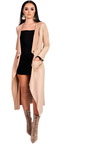 Anna Suede Waterfall Coat Thumbnail