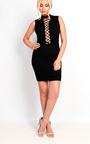 Marivtz Lace Up Bodycon Dress Thumbnail