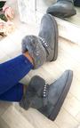 Carla Faux Fur Platform Embellished Boots Thumbnail