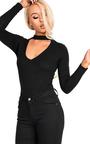 Thays Choker Neck Long Sleeve Bodysuit Thumbnail
