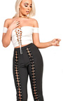 Kelly Lace Up Crop Top Thumbnail