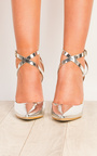 Seraphina Silver Strappy Court Heels Thumbnail