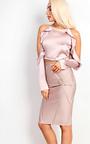 Ebony Satin Cold Shoulder Top Thumbnail