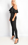 Emy Cold Shoulder Frill Jumpsuit Thumbnail