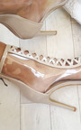 Cici Clear Heeled Ankle Boots Thumbnail