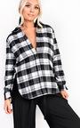 Yasmin Checked Oversized Shirt  Thumbnail