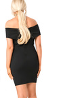 Balir Black Bardot Midi Dress Thumbnail