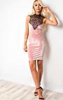 Brinley Cut Out Velour Bodycon Dress Thumbnail