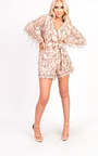 Kerry Sequin Plunge Playsuit Thumbnail