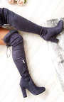 Claudia Faux Suede Fur High Boots  Thumbnail