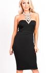 Marcella Diamante Neckline Sleeveless Dress  Thumbnail
