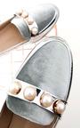 Sadie Velvet Embellished Studded Pumps Thumbnail